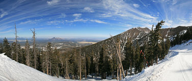 Panorama Arizona-Snowbowl lizenzfreies stockbild
