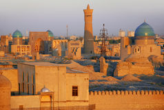 Panorama on the Ark fortress in Bukhara Royalty Free Stock Photos