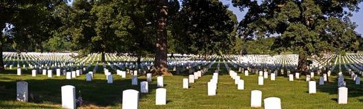 Panorama - Arlington National Cemetery. Panorama of grave markers at Arlington National Cemetery Stock Image