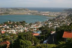 Panorama around Wellington. New Zealand. Evans Bay Royalty Free Stock Images