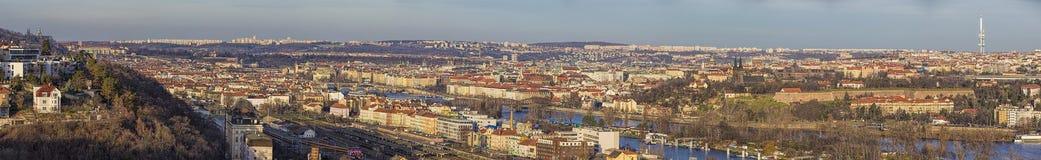 Panorama arrebatador de Praga foto de stock