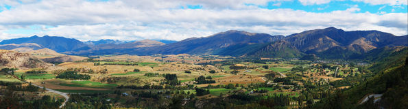 Panorama of Arrowtown Stock Images