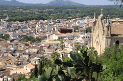 Panorama of Arta, Spain royalty free stock photo