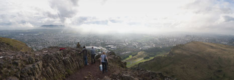 Panorama of Arthurs Seat Edinburgh Scotland UK Stock Photography