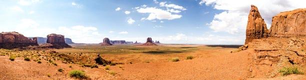 Panorama: The Artist Point - Monument Valley scenic panorama - Arizona, AZ Stock Image