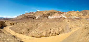 Panorama of Artists Palette in Death Valley Royalty Free Stock Photo