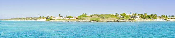 Panorama from Aruba in the Caribbean Stock Photo