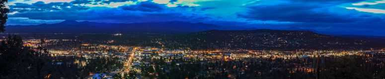 Panorama, as seen from Bend from Pilot Butte Neighborhood Park, Oregon