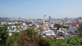 Panorama asiático da cidade do horizonte da arquitetura da cidade video estoque