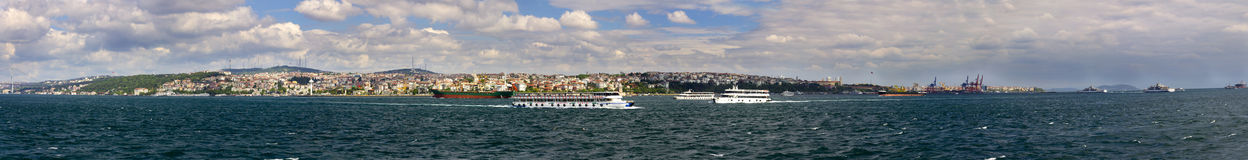 Panorama of Asian side of Istanbul Stock Photography