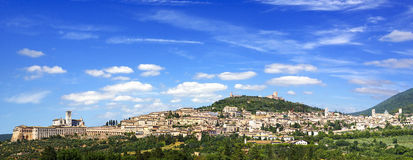 Panorama Assisi fotos de archivo