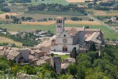 Panorama Assisi. fotografia stock