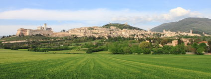 Panorama of Assisi Stock Photos