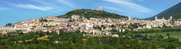 Panorama of Assisi, Itali Royalty Free Stock Photo