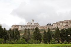 Panorama of Assisi, Italy Stock Image