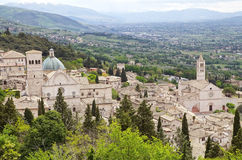 Panorama of Assisi, Italy Stock Photo