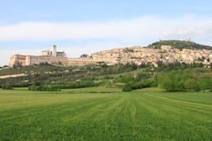 Panorama of Assisi Stock Image