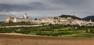 Panorama of Assisi Royalty Free Stock Images