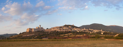 Panorama Assisi, Umbria, Włochy Zdjęcia Stock