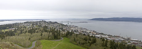 Panorama of Astoria, Oregon Stock Photo