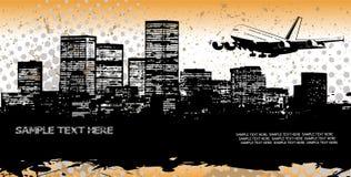 Panorama astratto della città Immagini Stock