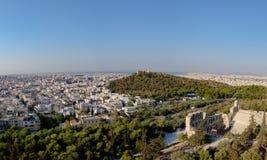 Panorama Ateny od akropolu Zdjęcia Stock