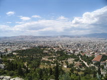 Panorama Athen Stockfoto