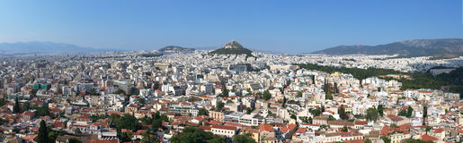 Panorama of Athens Stock Image