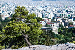 Panorama of Athens Stock Images