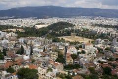 Panorama of Athens, Greece stock photos