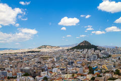 Panorama of Athens, Greece Stock Images