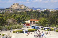 Panorama of Athens , Greece Stock Image