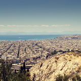 Panorama of Athens, Greece Royalty Free Stock Images