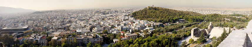 Panorama of Athens in Greece Royalty Free Stock Photos