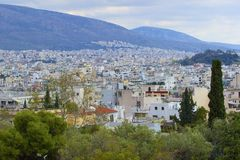 Panorama of Athens , Greece Stock Images