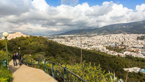 Panorama of Athens from Lycabettus. Stock Photo