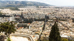Panorama of Athens from Lycabettus. Lycabettus also known as Lycabettos, Lykabettos or Lykavittos Stock Image
