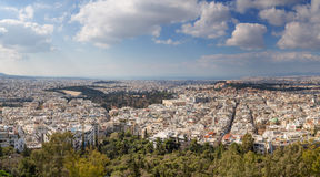 Athens panorama, Greece. Panorama of Athens taken from Lycabettus hill, Greece Royalty Free Stock Photos