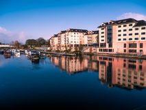 Panorama of Athlone city and the Shannon river Stock Images