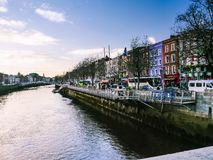 Panorama of Athlone city and the Shannon river Royalty Free Stock Photography