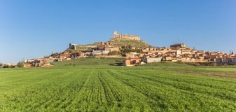 Panorama of Atienza and the hilltop castle Stock Photo