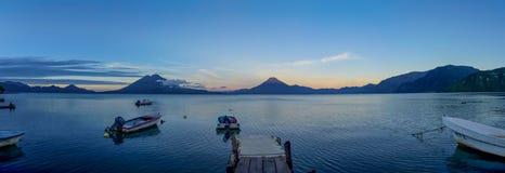 Panorama atitlan del lago Immagine Stock Libera da Diritti