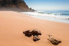 Panorama of Atlantic ocean beach Royalty Free Stock Photography