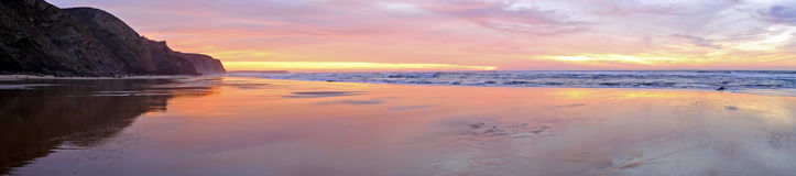 Panorama at the atlantic ocean in Portug Stock Images