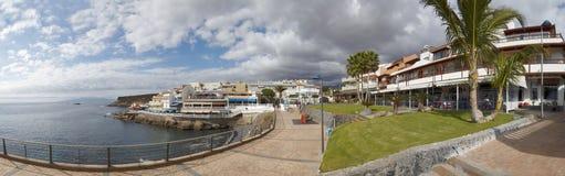 Panorama of Atlantic Ocean and seaside of La Caletta, Tenerife Stock Image