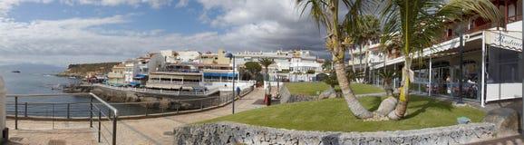 Panorama Atlantycki ocean i nadmorski los angeles Caletta, Tenerife obraz royalty free