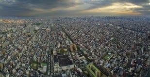 Panorama au-dessus de Tokio Photo stock