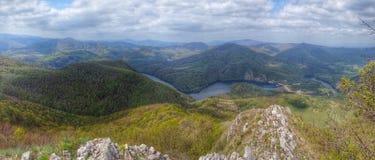 Panorama au-dessus du pays Image libre de droits