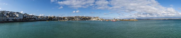 Panorama au saint Ives Cornwall photos stock