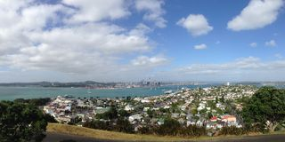 Panorama from Auckland Skyline Royalty Free Stock Images